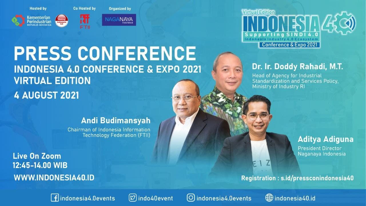 Press Conference Indonesia 4.0 Conference & Expo 2021 – Virtual Edition